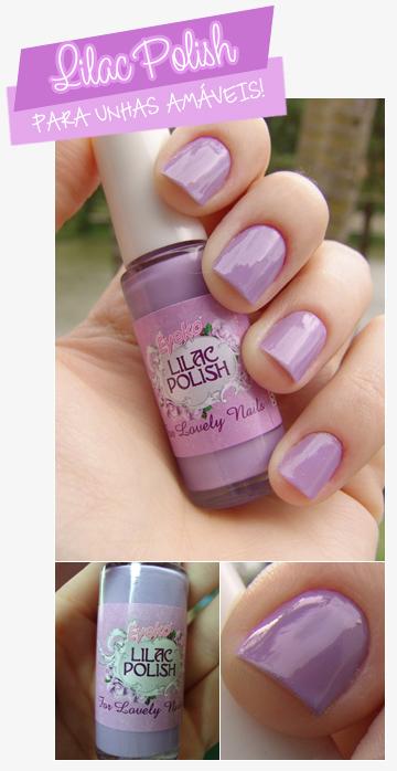 lilac polish unha bonita
