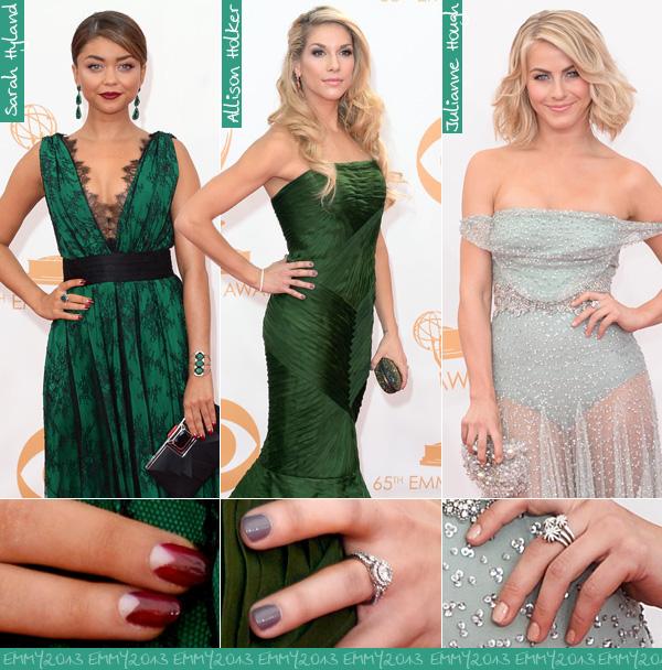 Cor de esmalte para usar com vestido verde