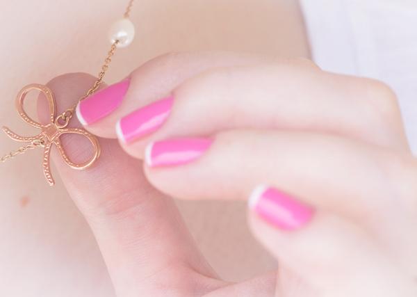 nail art rosa branco pink white chiffon chic maybelline-14