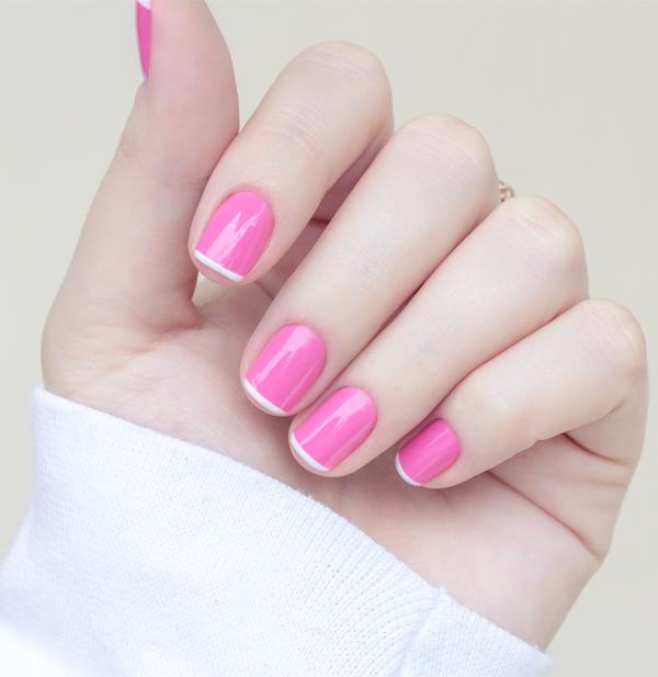 nail art rosa branco pink white chiffon chic maybelline-16