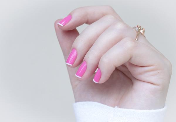 nail art rosa branco pink white chiffon chic maybelline-2