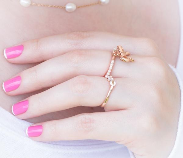 nail art rosa branco pink white chiffon chic maybelline-8