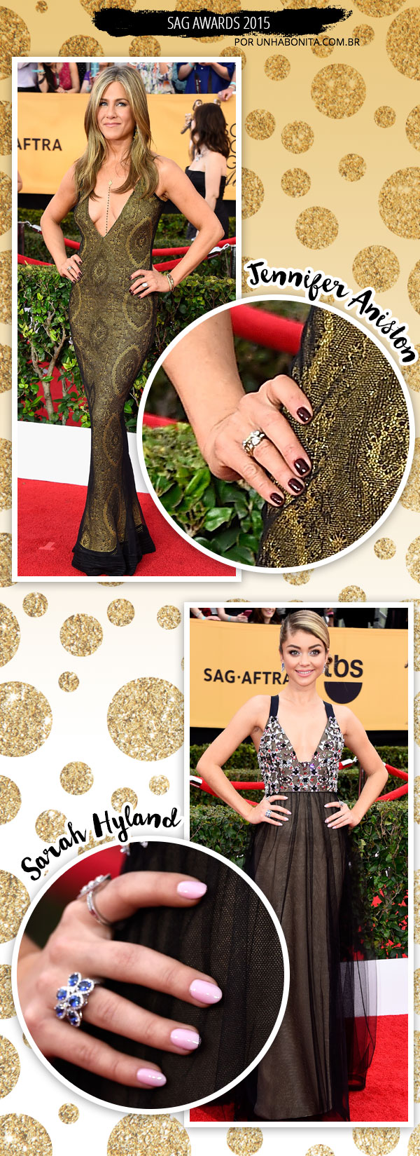 sag-awards-manicure-unhas-esmaltes-2015 jennifer aniston sarah hyland