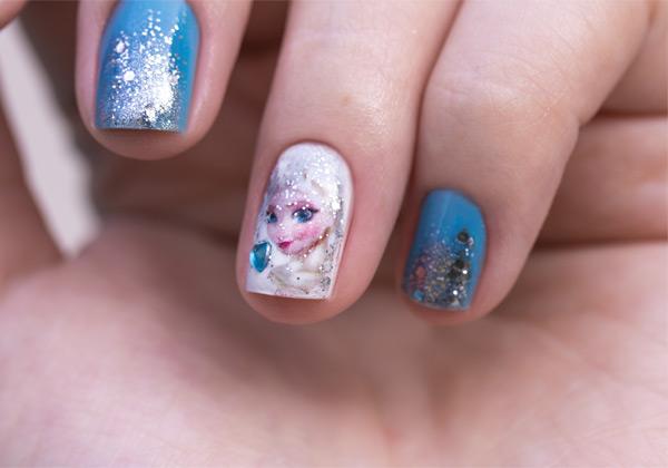 Elsa-Frozen-Nail-Art