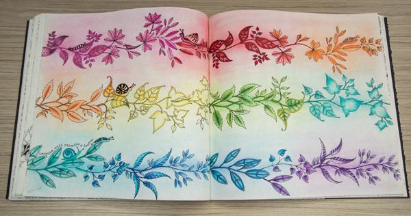 O livro Jardim Secreto nas unhas e minhas pinturas!