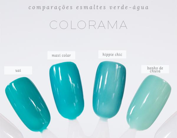 1-comparações-esmaltes-verde-água-colorama