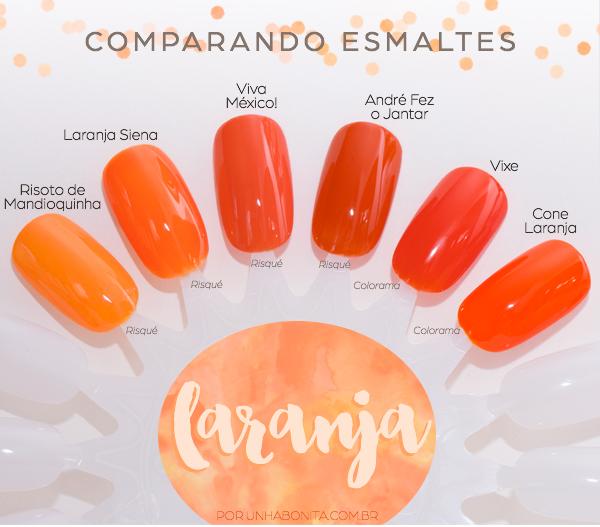 comparacao-esmaltes-laranja