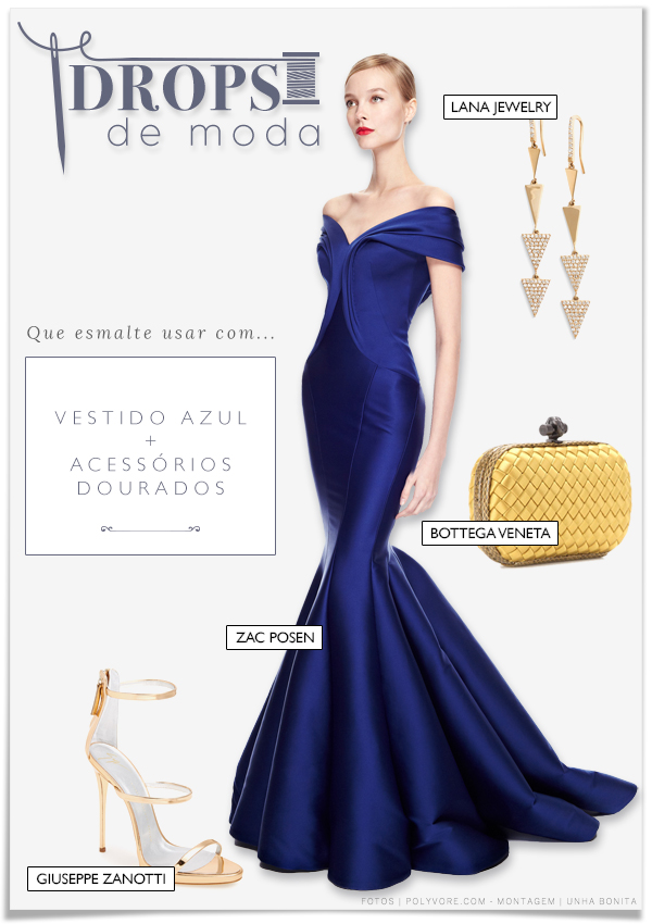que-esmalte-usar-vestido-azul